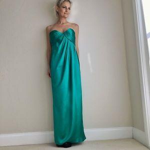 Vintage 1985 Emerald Green Prom Dress Size 6